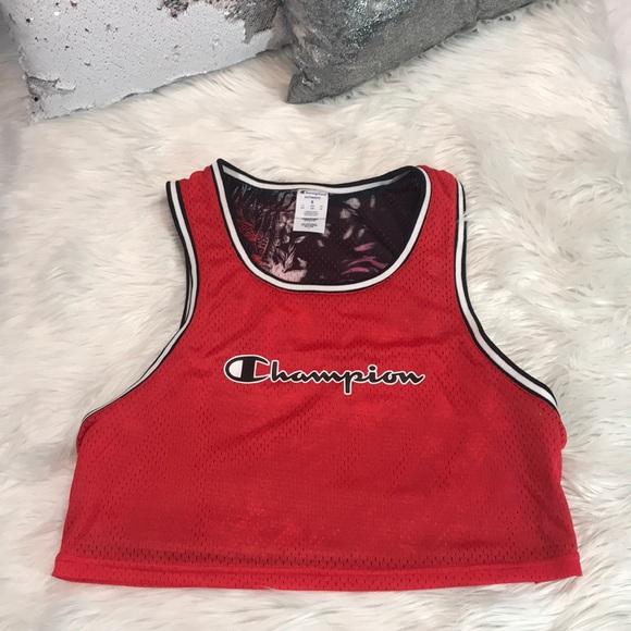 63d4d49d98a Champion Tops | Rare Reversible Womens Crop Top Jersey | Poshmark